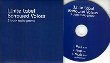 WHITE LABEL Borrowed Voices 2017 UK 3-trk radio promo CD Paul Weller