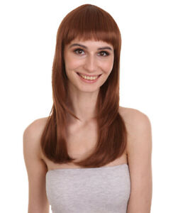 Women Glamour Collections Sexy Cosplay Party Auburn Brown Wig HW-697 (Adult)