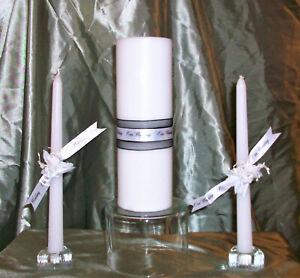 Our Wedding Black and White 3 Piece Wedding Unity Candle Set  - Wedding Gift Box