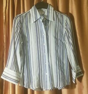 Tommy Hilfiger Button-up Multicolored Women's Shirt (Size Medium)
