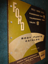 1953-1955 FORD CAR / TRUCK / T-BIRD BODY PARTS CATALOG / PARTS MANUAL / BOOK!!!