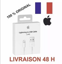 Câble ORIGINAL USB 1m chargeur Apple Lightning pour IPhone 5 6 7 8 X 11 IPad