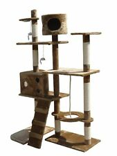 Cat Scratch Tree Activity Centre Scratching Post Toys Bed with Cat Nip Claws