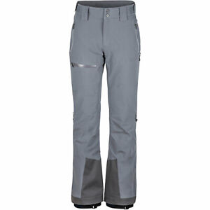 Marmot Castle Peak Snow Ski Pants Gray Insulated Waterproof RECCO Men's S $500