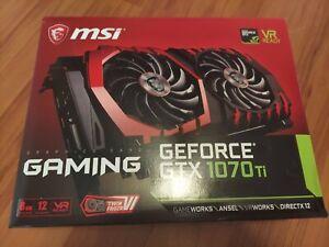 MSI GeForce GTX 1070 Ti Gaming 8GB GDDR5 Video Graphics Card