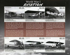 Union Island Gren St Vincent 2015 MNH WWI WW1 World War I Aviation 6v M/S Stamps
