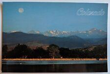 Crystal Lake Indian Peaks Longmont Colorado Postcard Boulder Full Moon