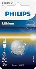 1x Philips CR2032 3V Lithium Battery Button Coin Cell DL2032 Car Key Fobs Watch