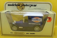 Matchbox Models of yesteryear Y-5 1927 Talbot Van with Ever Ready decals