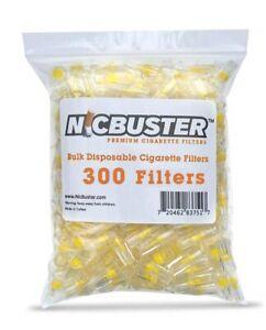 300 NICBUSTER Disposable Cigarette Filters Bulk Pack