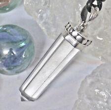 SET schöner Bergkristall Anhänger 925 Silber Handgeschmiedet Druide Heilstein