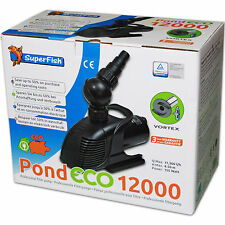 SUPERFISH POND ECO 12000 - Teichpumpe Filterpumpe Bachlauf Pumpe Filter Teich