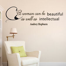 Vinyl Wall Decals Woman Beauty Audrey Hepburn Quote Decal Home Decor Z283