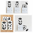 3pcs Panda DIY Switch Sticker Wall Quote Wall Stickers Vinyl Mural Decor Decals