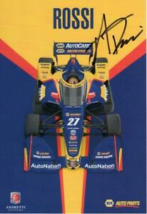 Alexander Rossi autographed 2021 Indy 500 8x7 hero card