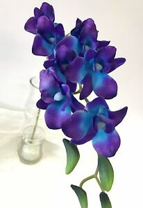 3x LATEX TOUCH SINGAPORE BLUE PURPLE ORCHID DENDROBIUM ORCHIDS FLOWER FLOWERS
