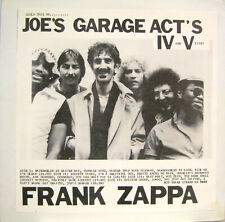 "FRANK ZAPPA ""COULD THIS BE...JOE'S GARAGE ACT'S IV AND V LIVE?""  double lp mint"