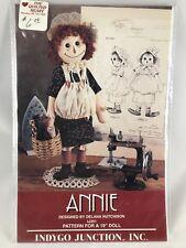 "Annie 19"" Doll Pattern Indygo Junction Inc IJ351 Raggedy Rag Doll  1994"