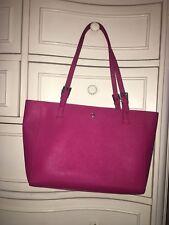 Tory Burch Pink Magenta Patent Leather York Buckle Shoulder Medium Purse