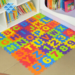 36pc Baby EVA Foam Play Mat Alphabet Numbers Puzzle Floor Tile Jigsaw Crawl Game