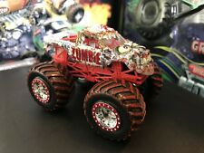 Hot Wheels Monster Jam Truck 1/64 Spectraflames Mud Blood Tires Treads Zombie