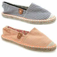 LADIES ESPADRILLE SANDALS FLAT SHOES SUMMER CASUAL HOLIDAYS FASHIONABLE PUMPS