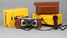 VERY CLEAN 1950's Kodak Stereo 3-D Camera & Case & Flash Twin 35 f/3.5 Lenses