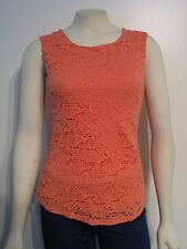 Womens XS Banana Republic Floral Lace Fashion Casual Sleeveless Blouse Top Shirt