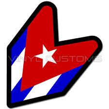"""Cuban Wakaba Leaf Flag Cuba Decal Sticker JDM - 4"""" in."""