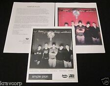 Simple Plan 'No Pads No Helmets…' 2002 Press Kit-Photo