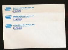 Lot of 3 SS Volendam Envelopes - Holland America Line