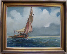 "Belle marine 1950 sig FLIRI "" les pêcheurs en mer """