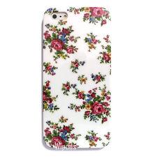 Rose Flower Design Design Floral Hard White Cover Skin for Apple iPhone 5 Case