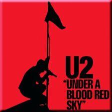 U2 SOTTO UN ROSSO SANGUE SKY CALAMITA FRIGO 75mm x 75mm (RO)