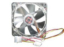 Yate Loon D12SL-124B 120mm Computer Fan, Clear Frame w/Blue LEDs