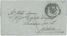 ITALIA - PREFILATELICA : da CAMPIGLIA a POMARANCE 1860