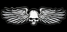 SON OF OUT LAW NOMAD SKULL WINGS IRON ON 5 INCH  BIKER PATCH