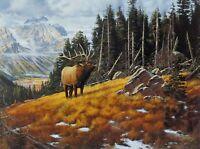 "Wapati Symphony by Derk Hansen Elk  Print  16"" x 12"""