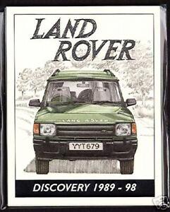 LAND ROVER DISCOVERY 1989-98 Collectors Card Set - 3-Door 5-Door Camel Trophy XS