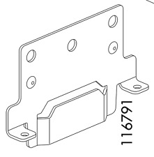2x  Ikea Connecting Supports Angled Mounting Plate for Brimnes Bed Part # 116791