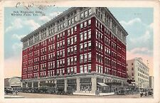 1923 Stores Early Cars Bob Waggoner Building Wichita Falls TX post card