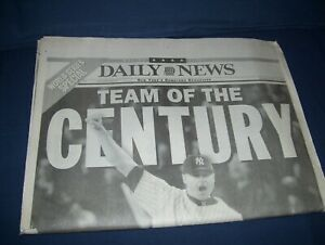 New York Daily News Yankee Championship Newspaper Thursday, October 28th,1999
