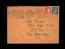 Germany WWII Hitler Head  Vienna 1943 R.A.D. Lager in Brunn Cover & Letter   8o