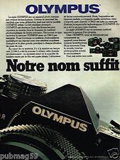 Publicité advertising 1981 Appareil photo Olympus OM-2