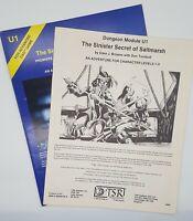 The Sinister Secret Of Saltmarsh AD&D 1st Edition TSR 9062 U1 Module 1981 G/VG