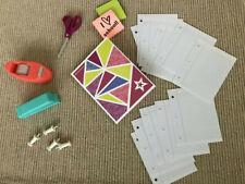"""American Girl folder paper stapler tape school supplies scissors 18"""" doll NEW"""