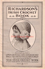 Richardson's Irish Crochet Book: Victorian Bag Reticule Hat Jabot Patterns on CD