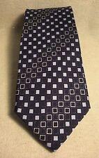 Boys New Non Branded Navy Blue 100% Silk Neck Tie