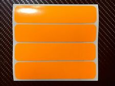 4x UV FLUORESCENT Orange Strips Motorcycle Helmet Stickers SAFETY HiViz Daytime