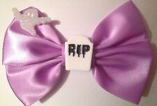 Pastel Goth RIP Hair Bow Tombstone Gravestone Ghost Creepy Cute Gothic